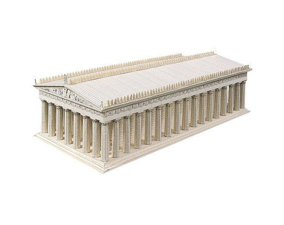 The Parthenon architecture model kit of by PaperLandmarks on Etsy