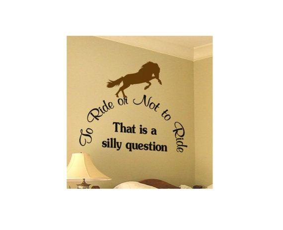 Dit paard met citaat decal meet ca. 32 X 36 inch. U kunt de stijl van het paard, de kleur van het paard en de kleur van de letters. Neem contact op met de verkoper met uw paard stijl en kleur keuzes.  Bekijk onze video op deze youtube link http://www.youtube.com/watch?v=mAzB6xjz0Ec installatie  Wat u krijgt.  1 - paard decal, koos uw paard stijl en kleur. 2 - citaat Kies decal, uw kleur. 3 - sample decal. 4 - installatie-instructies. 5 - installatiehulpprogramma.  Onze vinyl muur stickers…