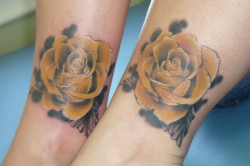 Matching Rose Tattoo  - Stylendesigns.com!