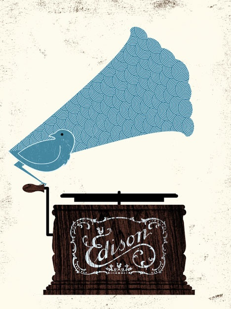 Love love love the mix of vintage texturing and color with simple readable shapes and overall image. Great!