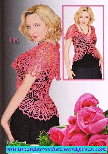 A must for this spring ...!! | My Corner of Crochet  Gorgeous top... chart pattern from Spainish blogger <3