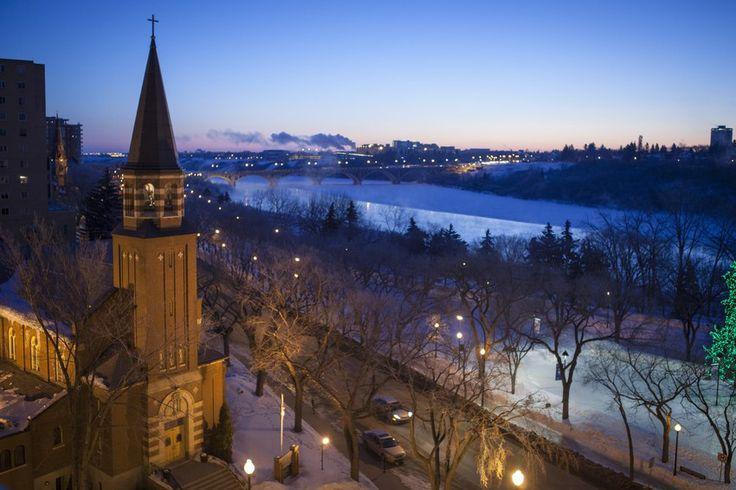 Winter in Downtown Saskatoon