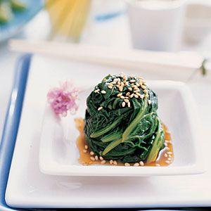 15 best Japanese recipes | Sesame Spinach Salad | Sunset.com