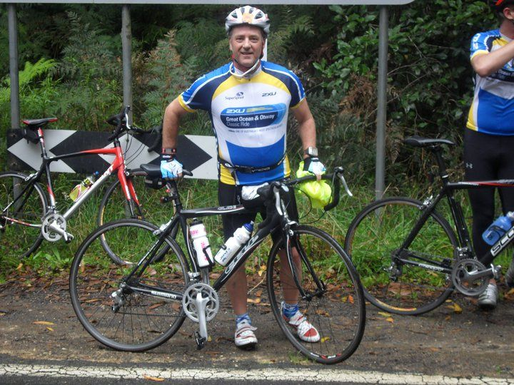 Me and my trusty Sora Blade on this weekends 145km Great Ocean Road & Otway Classic Ride. - Gary Swanton