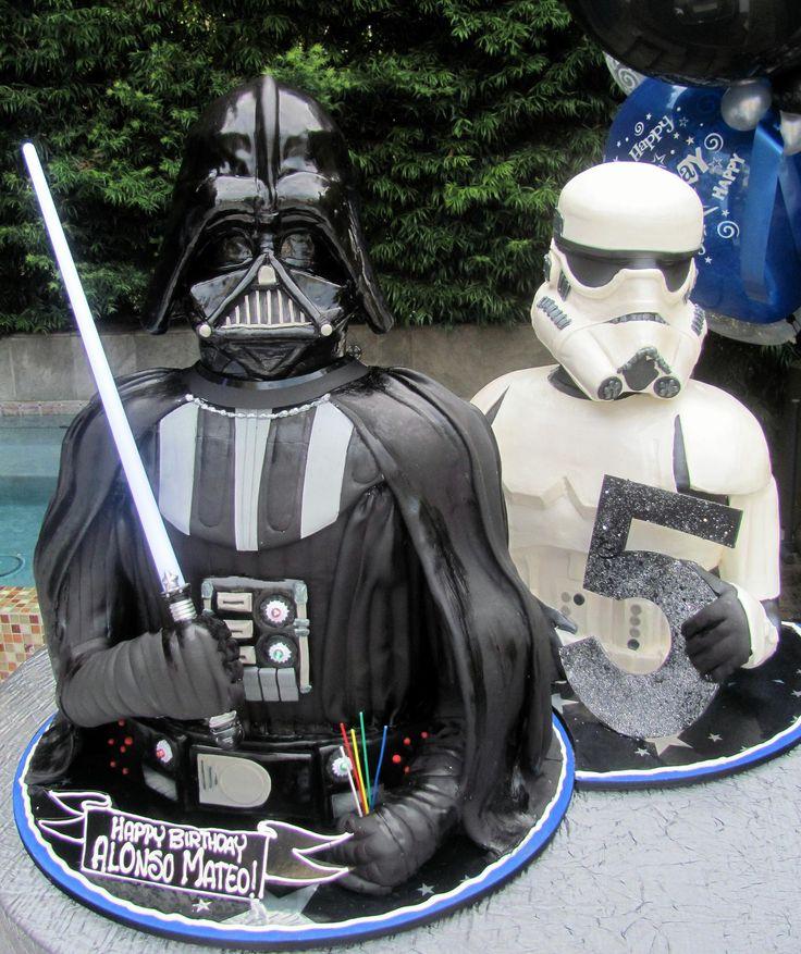 3-D Darth Vader  Storm Trooper