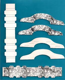 Elkin creaciones: Puente de cartulina para pesebre