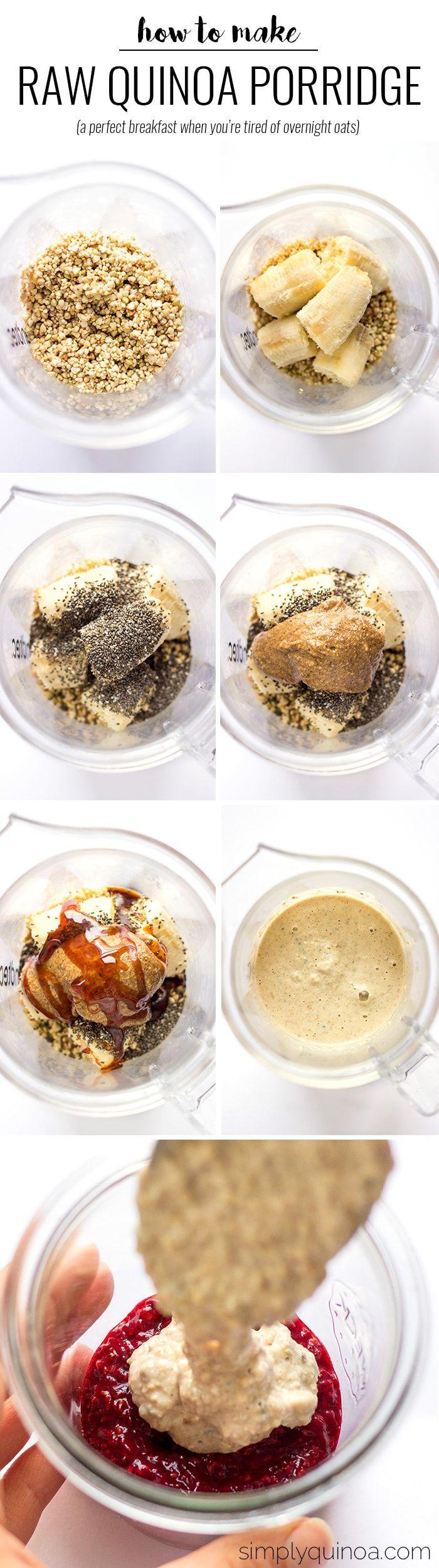 Raw Buckwheat + Quinoa Porridge