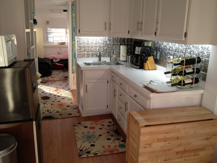 Kitchen Redo 1973 Holiday Rambler Camper Redo Renovation