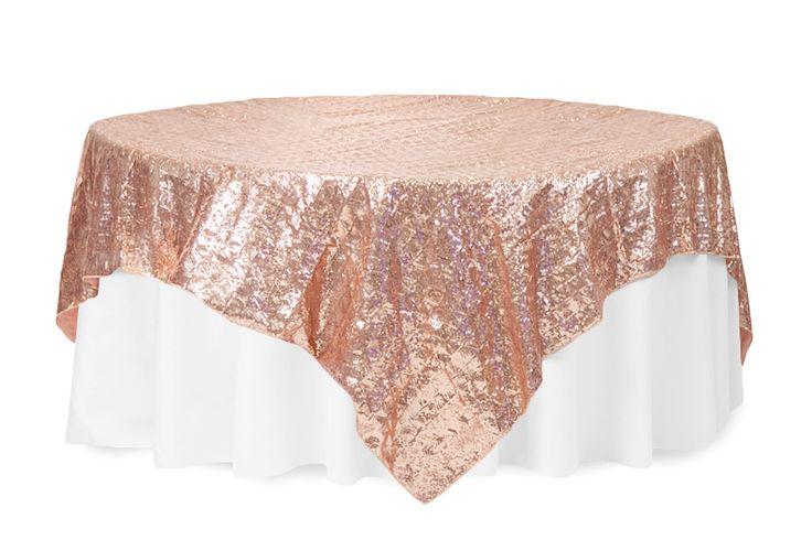 Diamond Glitz Sequin Table Overlay Topper 85 Quot X85 Quot Square