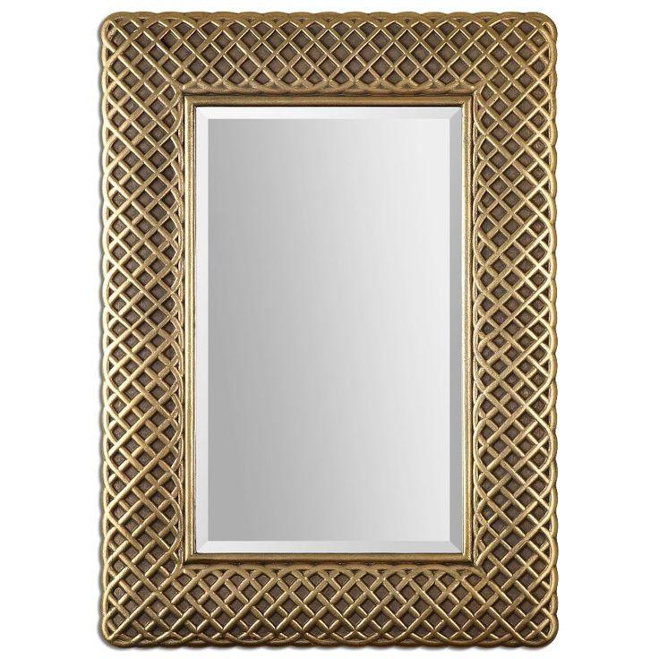 Luxurious 1 1 4 Beveled Mirror Frame Gold Leaf Gray Glaze Home Decor 8115 Furniture Home