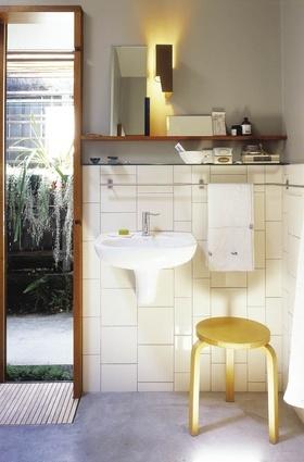 Wall hung basin - Donovan Hill.  I like the towel bar.