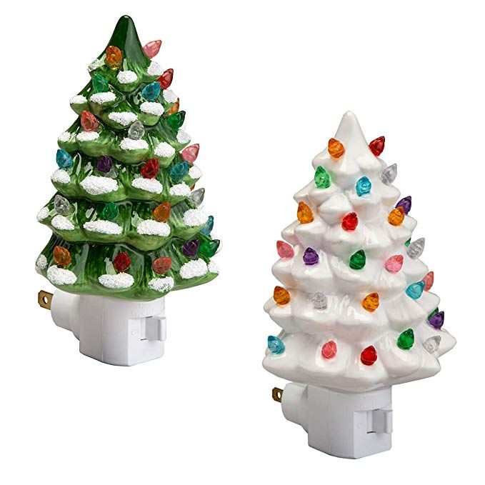 I M In Love With These Night Lights Must Have If You Re A Christmas Decor Lo Christmas Tree Night Light Ceramic Christmas Trees Vintage Ceramic Christmas Tree