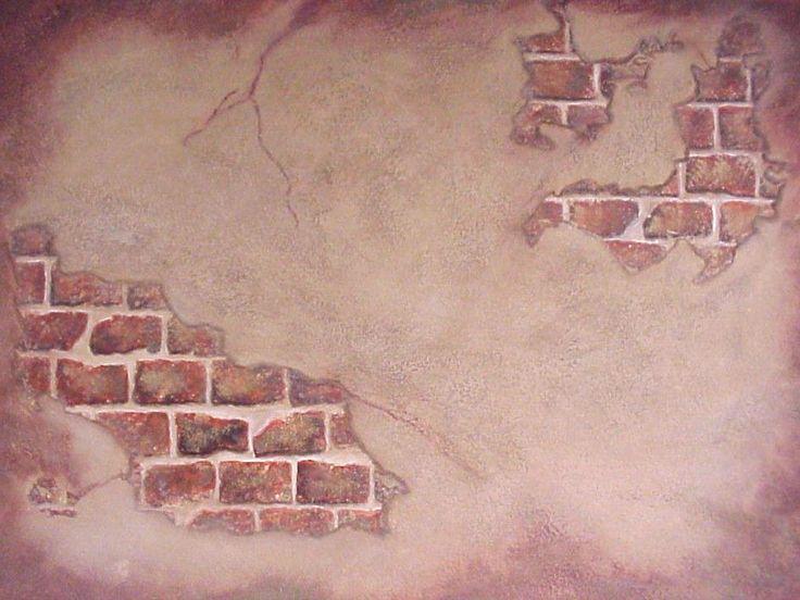 Faux Paint Techniques Fresco Wall Granite Finish