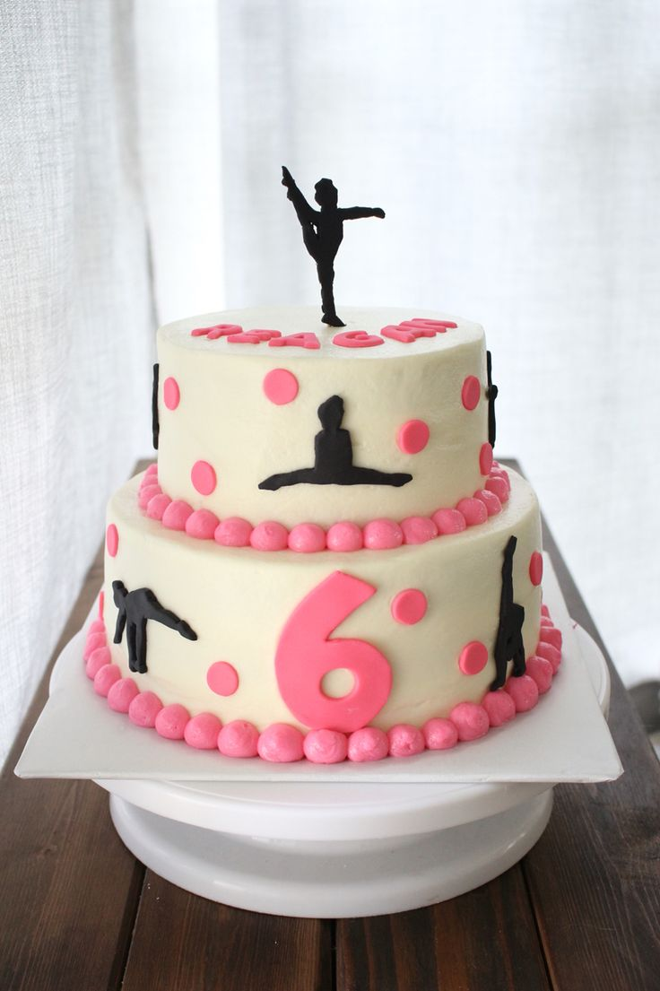In law in addition free pink birthday cake in addition bake shop party - The White Kitten Bakes Gymnastics Birthday Cake
