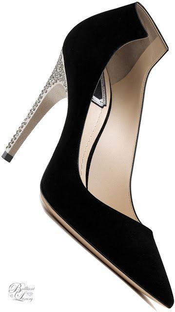 Brilliant Luxury by Emmy DE ♦Dior Black Suede Calfskin Pump