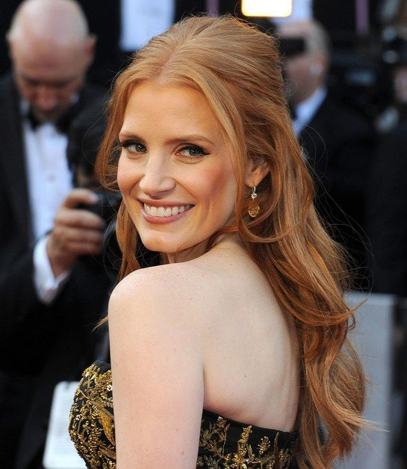 Best Oscar Hairstyle: Jessica Chastain's Half-Up Style