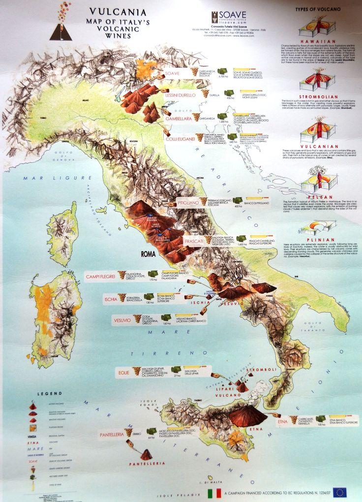 Volcanic wine regions of Italy