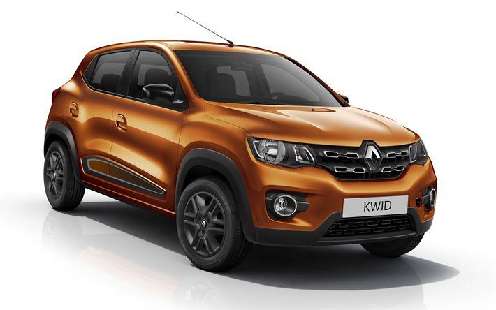 Download wallpapers Renault Kwid, 2019, bronze hatchback, new cars, Renault
