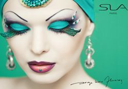 SLA - Artistic makeup with Strass