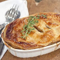 A traditional Irish recipe for a beef and stout pot pie. Rich, hearty pub cooking.
