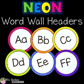 NEON Decor - Word Wall Letters