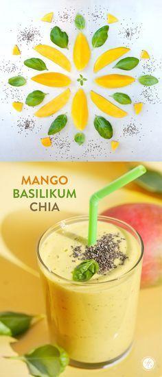 SmoothieMontag | Mango Basilikum Chia Smoothie #feiertaeglich #smoothiemontag