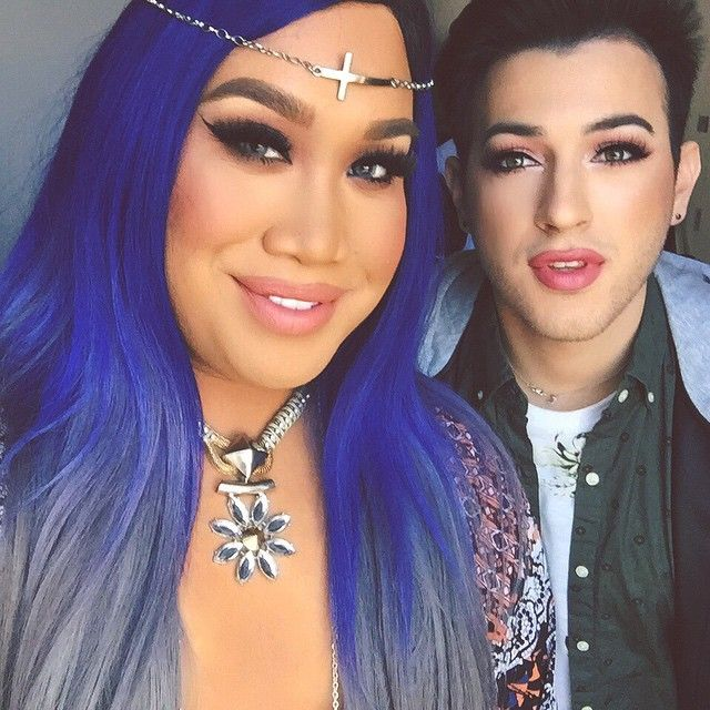 One of my favorite days in LA so far! Shooting with the breast friend and werkin the corner with @mannymua733 Subscribe to my YouTube to see the video when I uploads! I can't wait for you all to see it!! . I'm wearing lips by @gerardcosmetics Brows by @anastasiabeverlyhills Eyeshadow by @makeupgeektv @makeupgeekcosmetics Lashes by @eyeluv_me Foundation by NARS and CoverFX Hair by @fabulasityisme1 Styling by @tiffanykaelin Contacts: @desioeyes in Light Grey Shot at @smashboxcosmetics…