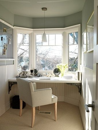 Do You Dare Position A #Desk Next To An #Office #Window? Is It Too  Distracting? You Be The Judge  ➤http://CARLAASTON.com/designed/position...