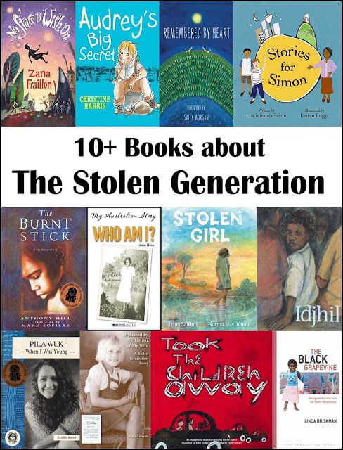 10+ Books about The Stolen Generation for ages 5-12 with suggested novels for older learners too.