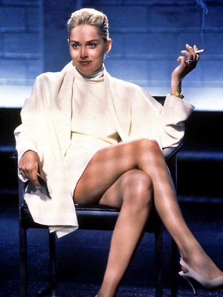 Basic Instinct, Sharon Stone | An erotic thriller about a bisexual (Sharon Stone) suspected of murdering her lover with an ice pick, this Paul Verhoeven film was pressured to tone…