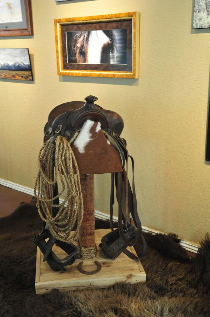 A Handmade Custom Saddle Bar Stool Made From A Real