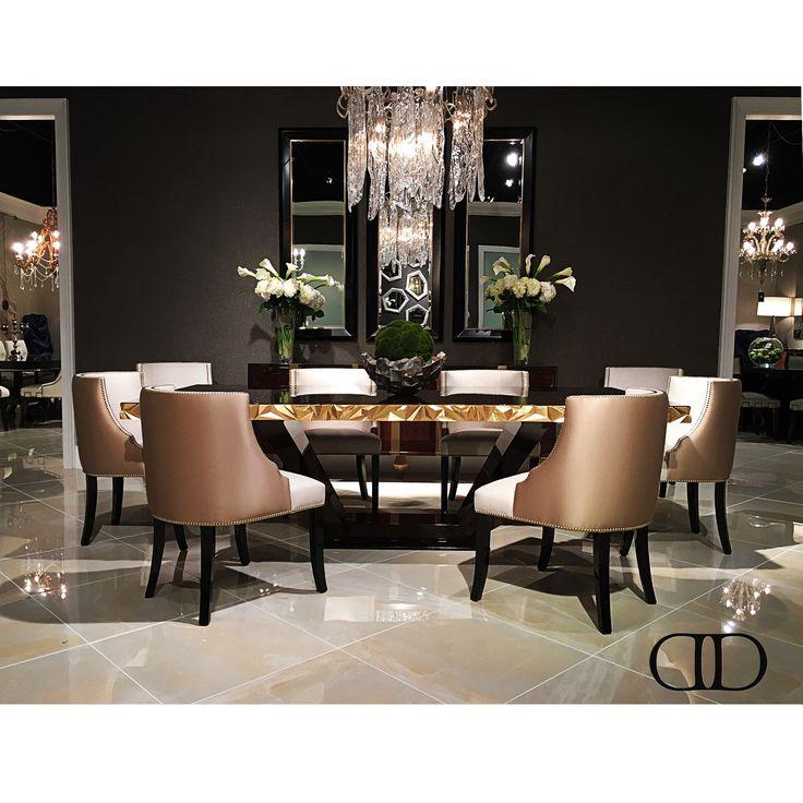Dorya's brand-new dining set debuting at this week's #hpmkt #hpmkt2016 M.1085 Jager Dining Table, I.1069 Velo Side Chair and B.1057 Sideboard #Dorya #DoryaInteriors #DoryaHome #Design #InteriorDesign #Style #Trend #Trending #LuxuryLiving #LuxuryFurniture