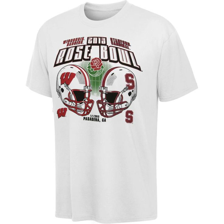 Stanford Cardinal vs. Wisconsin Badgers 2013 Rose Bowl Match-Up T-Shirt - $9.99