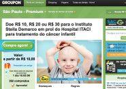 Groupon levanta doações para combate ao câncer infantil
