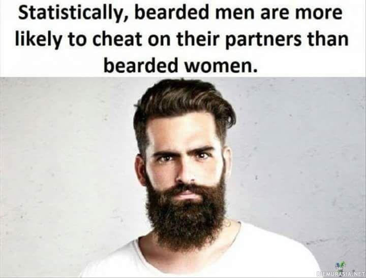 Parrakkaat miehet pettävät puolisoaan parrakkaita naisia useammin