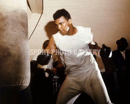 1966:  World heavyweight boxing champion Muhammad Ali in training at the Royal Artillery Gymnasium in London for his upcoming fight with British champion Henry Cooper, against whom he must defend his title.  (Photo by Keystone/Getty Images)