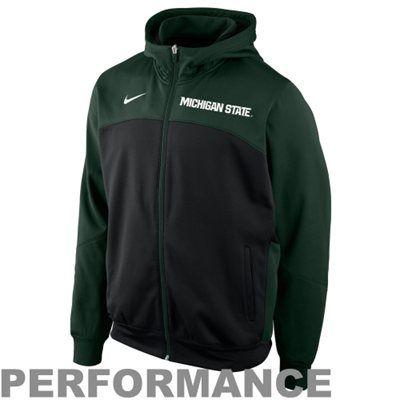 Nike Michigan State Spartans Basketball Performance Full Zip Hoodie - Green/Black - XXL - fanatics.com