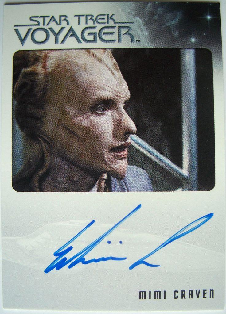 Star Trek Voyager Heroes Villains MIMI Craven Autograph Card | eBay
