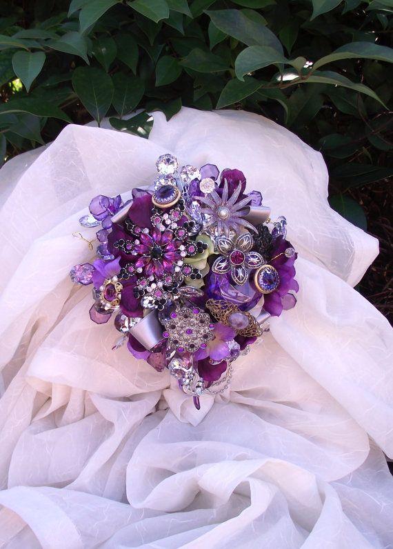 Custom Order for SIMONE purple brooch bouquet plum by UptownGirlzz, $49.99