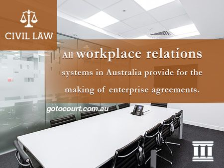 All workplace relations systems in Australia provide for the making of enterprise agreements.