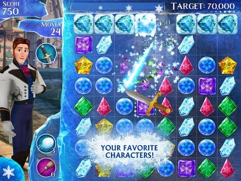 Smart Apps For Special Needs: Addictive Free App: Frozen Free Fall - a candy crush game for kids