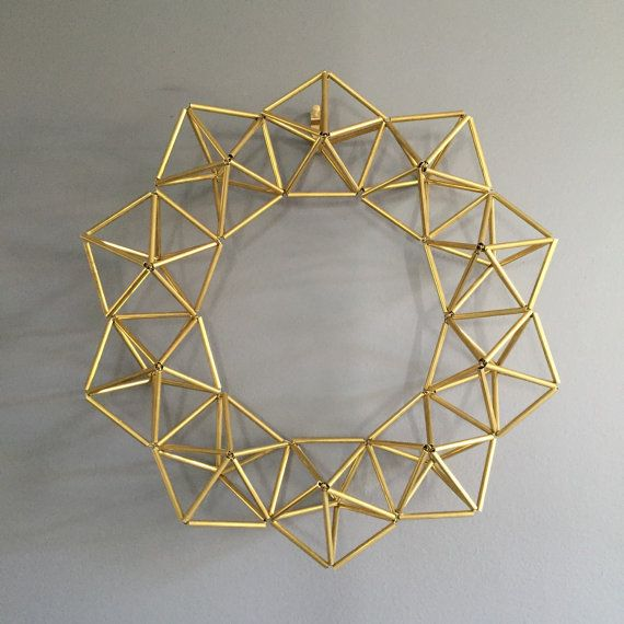 Brass Himmeli geometric crown