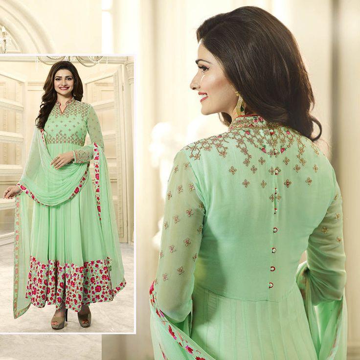 New Indian Bollywood Pakistani Designer Anarkali Salwar Kameez Green Ethnic Suit #Shoppingover #SalwarKameez