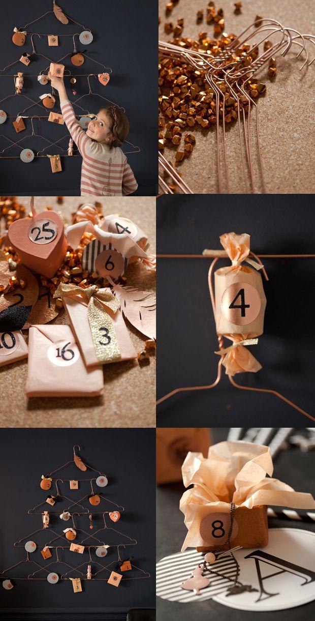 Calendrier de l'Avent DIY par http://laitfraisemag.fr/2013/11/diy-le-calendrier-de-lavent/