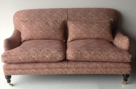 Reupholstered two seater sofa by Zinc
