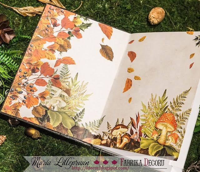 Autumnal mixed media eco notebook by Maria Lillepruun