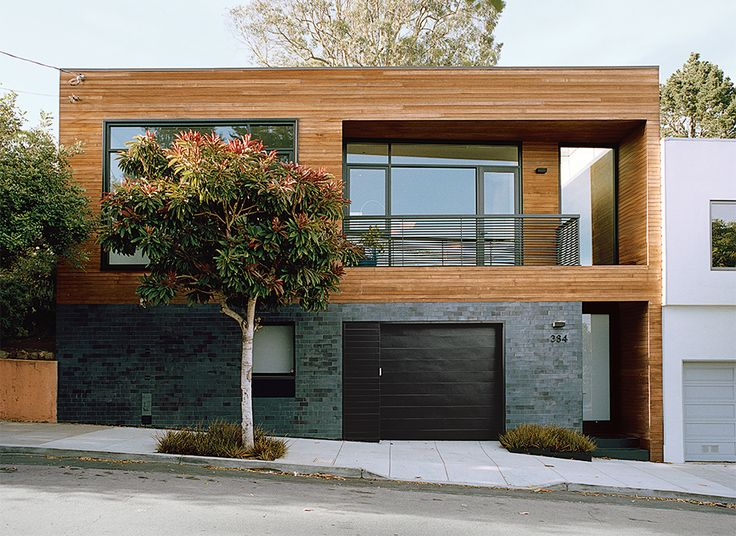 San Francisco residence with a cedar and tile exterior by Cary Bernstein