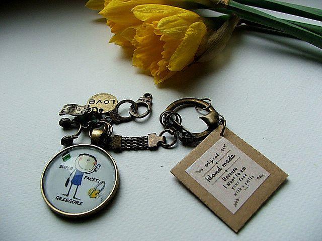 brelok na prezent  imię SUPER FACET dla Niego - nailart2010 - Breloki do kluczy