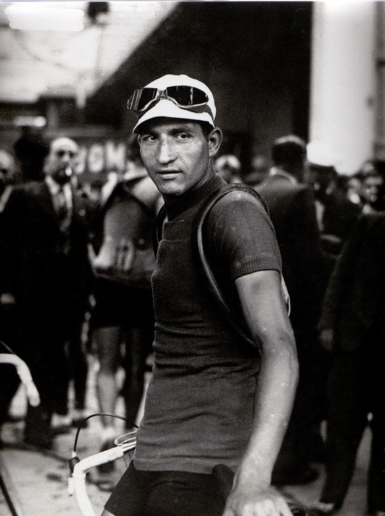 Gino Bartali looking like a god on earth.
