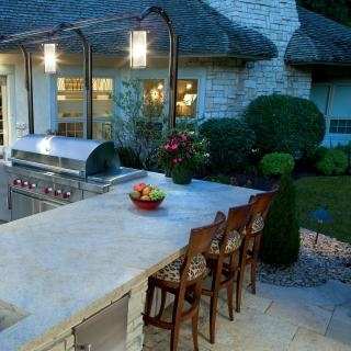 Don T Forget Lighting And Material Selection When Designing Your Outdoor Kitchen More